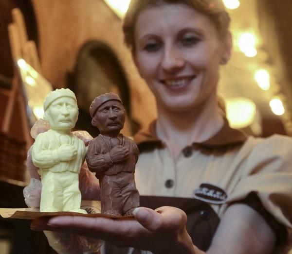 Шоколадный Путин на Украине