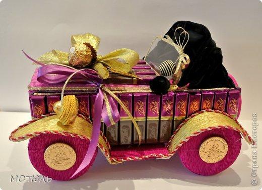 Как сделать машину своими руками из конфет